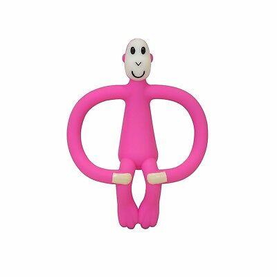 Matchstick Monkey Teething Gel Applicator, Training Toothbrush/Teether - Pink