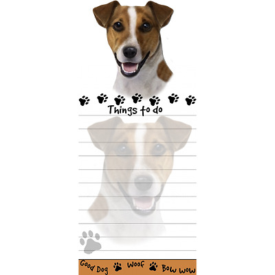Jack Russell Terrier Magnetic Post It Dog Breed Stationery Notepad
