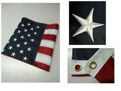 3x5 Ft US American Flag Heavy Duty Sewn Stripes Embroidered Stars Grommets Nylon
