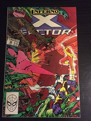 "X-factor#36 Incredible Condition 9.4 Simonson Art""Inferno""(1988) Awesome!!"