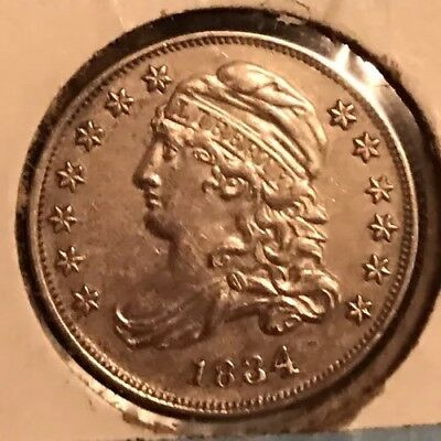 1834 Capped Bust Dime XF++ High Side FREE SHIPPING  NO RESERVE