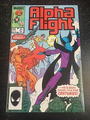 Alpha Flight#21 Incredible Condition 9.4(1985) Diablo App,Byrne Art!!