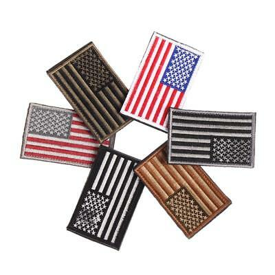 6 Styles American Flag Embroidered Patch