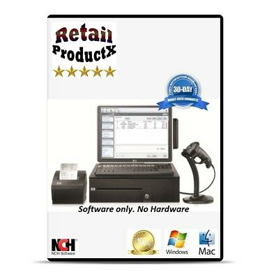 POS Cash Register Point of Sale POS System Software supports Barcode Scanner NEW