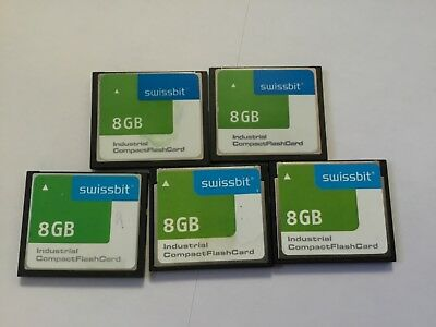 5pcs 8gb Swissbit iNDUSTRIAL Compactflash memory card for CF DEVICES , cameras
