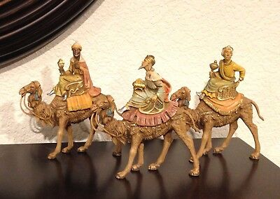 VINTAGE FONTININI  3 WISEMEN Kings ON CAMELS ITALY 1983