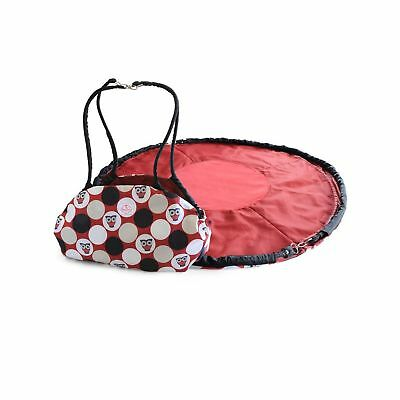 2 Red Hens Toy Nanny and Play Mat Owl Dots
