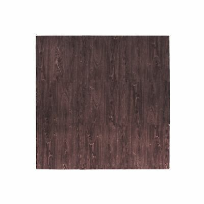 Tadpoles 9 Piece Playmat Set Cherry Wood Grain 18 Inch