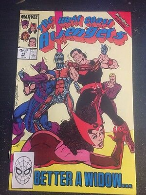 "West Coast Avengers#44 Incredible Condition 8.5 Byrne Art""Vision Quest""(1989)"