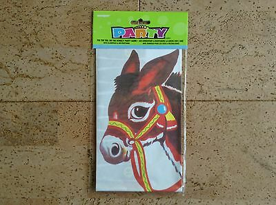 Pin the tail on the donkey Party Spiel, Partyspiel mit Augenbinde NEU & OVP