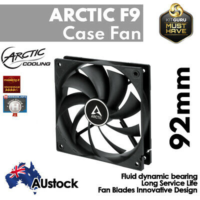 Fan 92mm Low Noise for PC Arctic Cooling F9 Silent 3-Pin Fluid Bearing