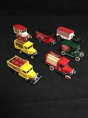 "Vintage Coca Cola Toy Trucks Set of 7 ""Days Gone"" By Lledo In England Die cast"