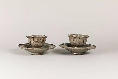 Song Dynasty Chinese Antique Xing Ware Pair of Tea Sets