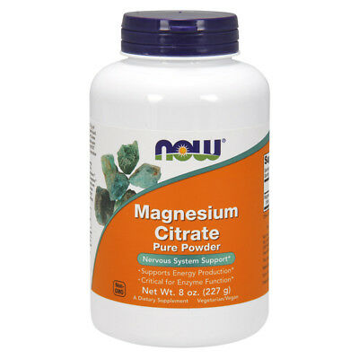 NOW FOODS Magnesium Citrate Powder 227g - magnesio citrato