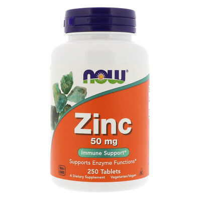 NOW FOODS Zinc, 50mg - 250 tablets - zinco