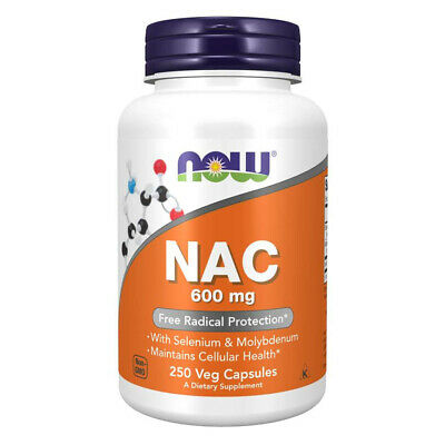 NOW FOODS NAC (N-Acetil Cisteina) 600 mg 250 capsule