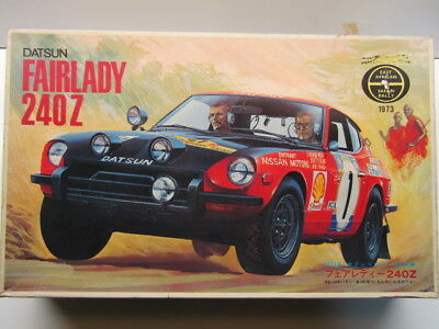 Fujimi Vintage 1/20 Scale 1973 Safari Rally Datsun Fairlady 240Z Model Kit Rare