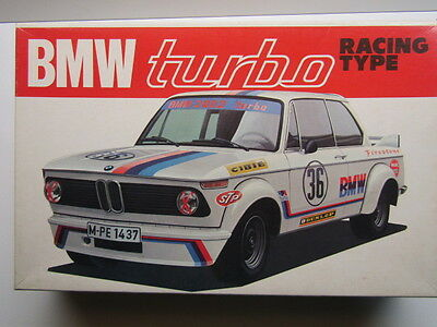 Bandai Vintage 1/20 Scale BMW 2002 Turbo Racing Model Kit New Rare & Motorisable