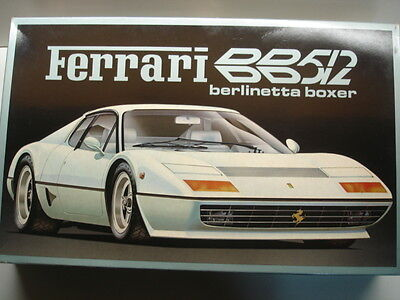 Fujimi Vintage 1/16 Scale Ferrari Berlinetta Boxer BB512 Model Kit - Rare - New