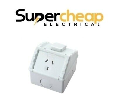 Single Weatherproof Power Point Outlet Socket Weather GPO Water Proof Outdoor