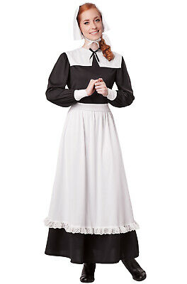 Brand New Thanksgiving Colonial Pilgrim Woman Settler Adult Costume
