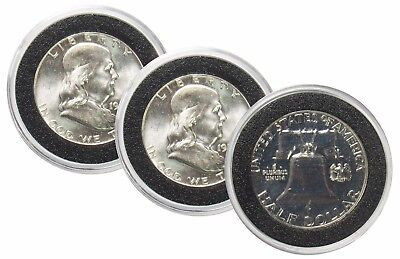 1963 P&D 50¢ Silver Franklin Half Dollar BU & Proof 3 Coin Set