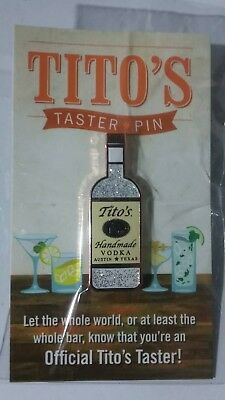 Tito's Handmade Vodka Official Taster Pin 2017 Holiday Gift Cocktail Booklet NEW