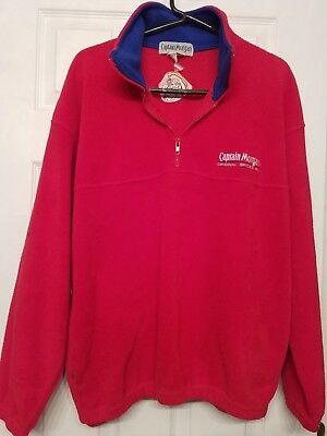 Nearly Vintage Captain Morgan Red Fleece with Blue Trim