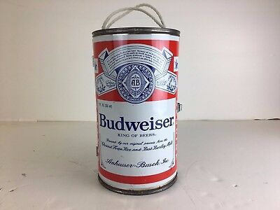 VINTAGE EHCO BUDWEISER THE BIG CAN-DO 6-PACK COOLER STEEL PLATED METAL Genuine