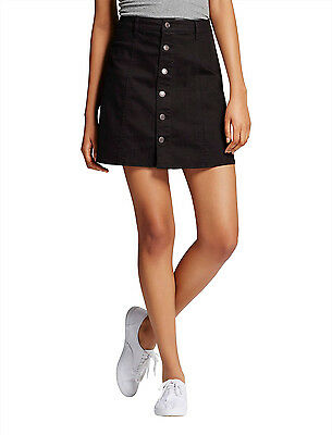 Mossimo Women's Mid Rise Button Front A Line Skirt