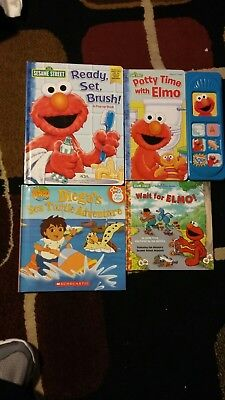 Children's Board Books & Play-a-Sound Potty Training Time w/ ELMO Teeth Brushing