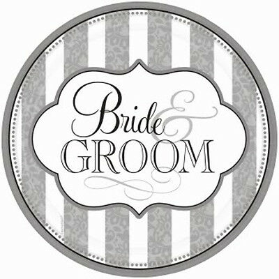 Set Of 12 Personalised  14X8 Size Bride And Groom Cake Bags