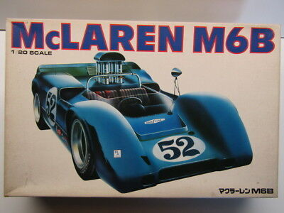 Bandai Vintage 1/20 Scale McLaren M6B Can Am Model Kit New - Rare - Motorisable