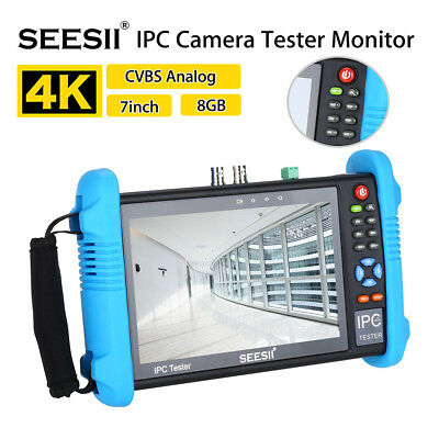"SEESII 9800PLUS 7""Wireless Wifi Touch Screen CCTV Camera Tester Video Test H.265"