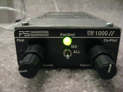 PS Engineering Incorporated PM 1000 II Audio Panel Intercom with Connector