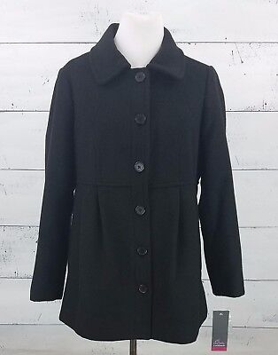 NEW w/ Tags Motherhood Maternity Black Peacoat for Winter - Size Medium