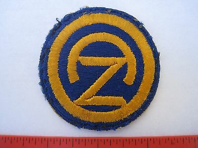 US ARMY WWII 102nd INFANTRY DIVISION TOTAL MINT PATCH 100 % REAL DEAL & WORN !!