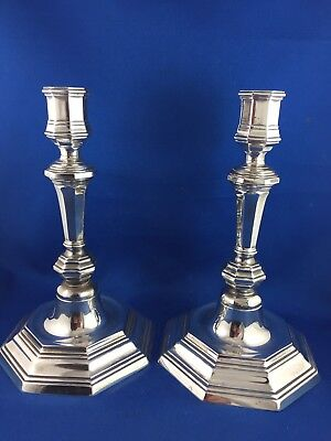 Exquisite Vintage  French Elegant  Christofle Silver   Candle Holders