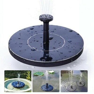 Submersible Floating Solar Powered Panel Water Fountain Garden Pump Pond Tank DB