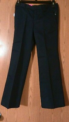 French Toast Girl's Bootcut Adjustable Waist Pants, Navy, Size 8, NWT