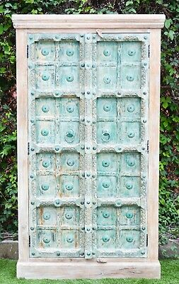 Indian Antique Door Statement Shabby Chic Wardrobe Storage Vintage Cabinet