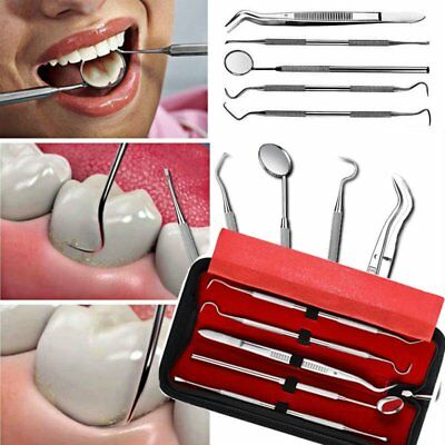 5 in 1 Dental Oral Hygiene Kit Tool Deep Cleaning Scaler Teeth Care for Dentist