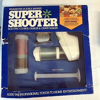 Wearever Double Barrel Super Shooter Electric Cookie, Canape & Candy Maker NEW