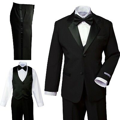 NEW Baby Boys Black Tuxedo Bow Tie Size L (12-18 months)
