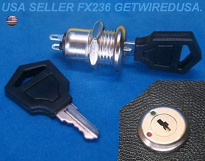 Flush Mount 12-Volt Dc On & Off Lock 2 Key Round Toggle Switch 2-Pin