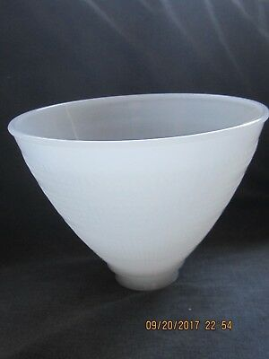 "Vintage Milk Glass 8""  Torchier Lamp Shade / Globe / Diffuser - 2-1/4"" Fitter"
