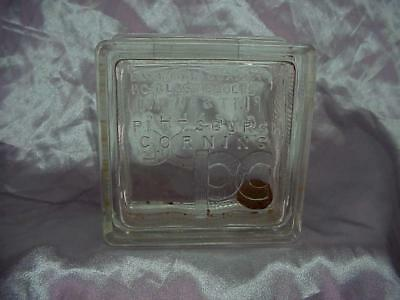 Antique PC Glass Block Pittsburgh Corning Bank