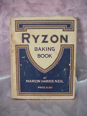 Antique Baking Powder  Ryzon Baking Book 1917......*1/18