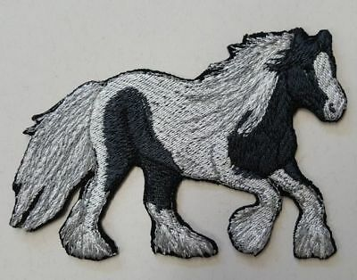 """Gypsy Vanner Horse, Small Embroidered Patch Approx Size 3.4""""x2.4"""""""