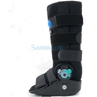 S/M/L Adjustable Inflatable Fracture Ankle Foot Sprain Walker Boot Fixed Brace